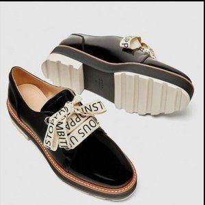 Zara Shoes - ZARA PLATFORM SHOES! Oxford Brogue Style
